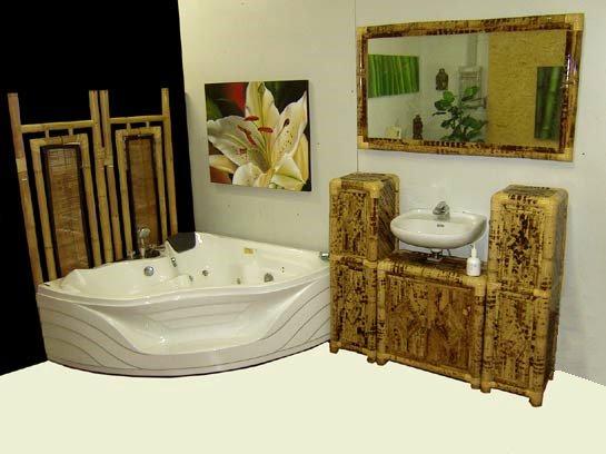 Badschrank Bambus ~ Kreative Ideen für Design und Wohnmöbel