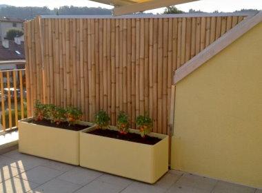 Art bambus bauprojekte - Trennwand bambus ...